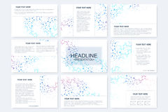 Big set of vector templates for presentation slides. Modern graphic background structure Royalty Free Stock Image