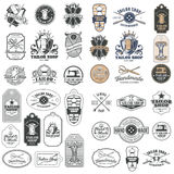 Big set of vector vintage tailor badges, stickers, emblems , signage Royalty Free Stock Photography