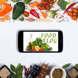 Big set of vegetables, spices and smartphone on a white background. Food blog concept. Big set of vegetables, spices and smartphone on a white background Stock Photography