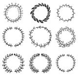 Big set of vintage elements. Vector decoration collection. Hand drawn flowers Stock Photo