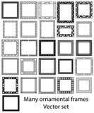 Big set of vintage ornamental frames.Vector Stock Image