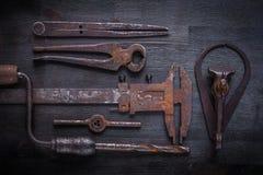 Big set of vintage tools Royalty Free Stock Photo