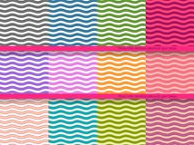 Big set of wavy vector seamless patterns for your Stock Image