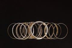 Big set of woman's bracelets Royalty Free Stock Images