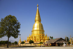 Big sharp pagoda golden Stock Photos