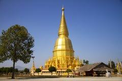 Big sharp pagoda golden Stock Photos