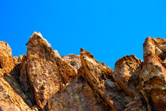 Big sharp rocks Royalty Free Stock Images