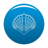 Big shell icon blue vector illustration