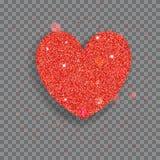 Big shiny heart Stock Image