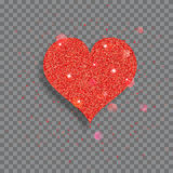 Big shiny heart Stock Photography
