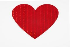Big Shiny Metallic Red Heart Stock Photo