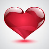 Big shiny red heart Stock Images