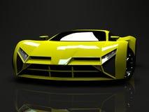 Big shiny sports car premium. Conceptual design. A Royalty Free Stock Photo