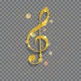 Big shiny treble clef Stock Image