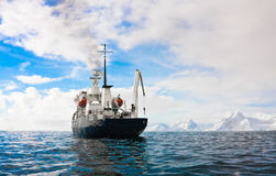Big ship in Antarctica Royalty Free Stock Image