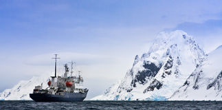 Big ship in Antarctica Royalty Free Stock Photo
