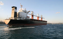 Big ship on Bosphorus, Istanbul Stock Images