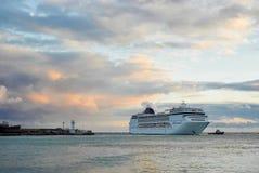 Big ship call in Yalta port Royalty Free Stock Photos