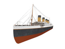Big ship liner front view Stock Images