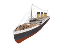 Big ship liner front view. Isolated ship liner over white royalty free illustration