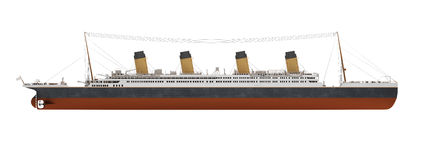 Big ship liner side view royalty free illustration