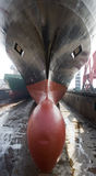 Big ship after painting Stock Images