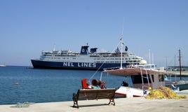 Big ship in port Stock Image