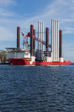 Big ship in the port of Gdynia, Poland. Stock Photos