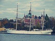 A big ship in Stockholm Stock Photography