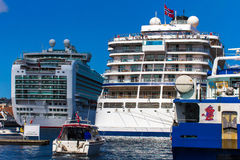 Big ships in Stavanger, Norway. Stock Image
