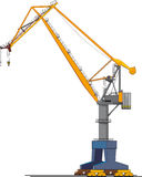 Big shipyard crane. Image of big shipyard crane isolated on white Vector Illustration