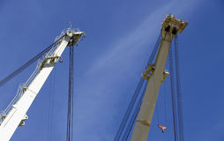 Big shipyard cranes Royalty Free Stock Image