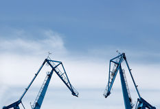 Big shipyard cranes Stock Photography