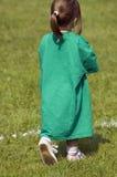 Big shirt. Little girl wearing a large t shirt Stock Photo