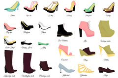 Big shoes set Royalty Free Stock Photography