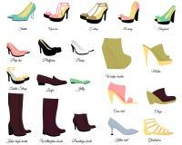 Big shoes set Royalty Free Stock Image