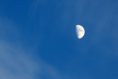 Big shone moon in a blue sky Royalty Free Stock Photos