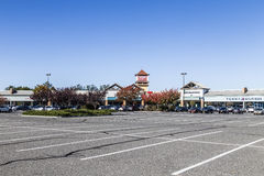 Big shopping area Tanger mall in Riverhead. RIVERHEAD, USA - OCT 26, 2015: big shopping area Tanger mall in Riverhead, State New York. They offer big bargains Stock Images