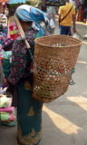 Big Shopping Basket. Myanmar (Burma stock image