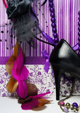 Big shopping - luxury glamour accessories Stock Photo