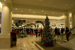 Big shopping mall. With Christmas decorations Stock Image