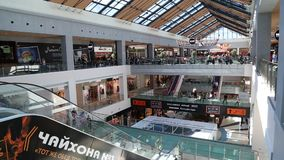 Big shopping mall stock video footage