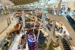 Big shopping Mall, premier shopping destinations. Royalty Free Stock Photo