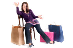 Big shopping upset stock photography