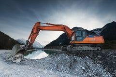 Big shovel excavator Stock Photo