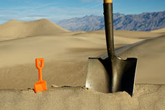Big Shovel, Little Shovel Royalty Free Stock Photo