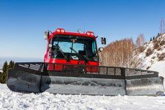 Big shovel on snowmobile Royalty Free Stock Image