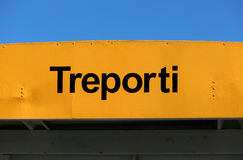 Big sign TREPORTI a port near Venice Royalty Free Stock Photo