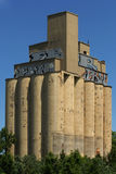 Big silos. Old structure with silos. Location: port of Montreal, Canada royalty free stock photography