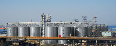Big silos Royalty Free Stock Images